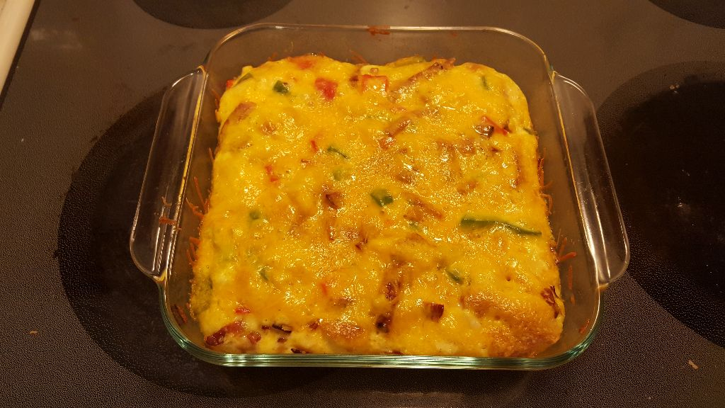 Cooked egg casserole